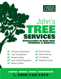 Tree Trimming & removal Services Flyer