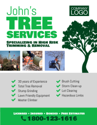 Tree Trimming Removal Services Flyer Template\