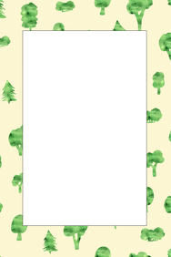 Trees Party Prop Frame