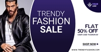 trendy fashion sale flyer Facebook Ad template