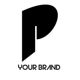 TRENDY INITIAL P LETTER LOGO template