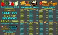 Tri-Fold Breakfast Lunch Menu Oficio US template