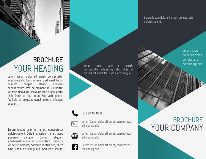 Tri Fold Brochure Template PosterMyWall