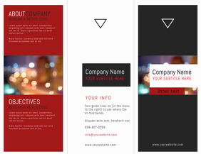 Tri-Fold Corporate Brochure (front) Flyer (US Letter) template