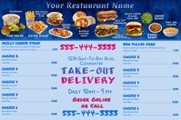 Tri-Fold Menu with Professional Food Photos Poster template
