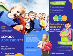 Tri-fold School Brochure Template