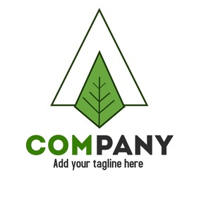 triangle leaf logo with transparent backgroun