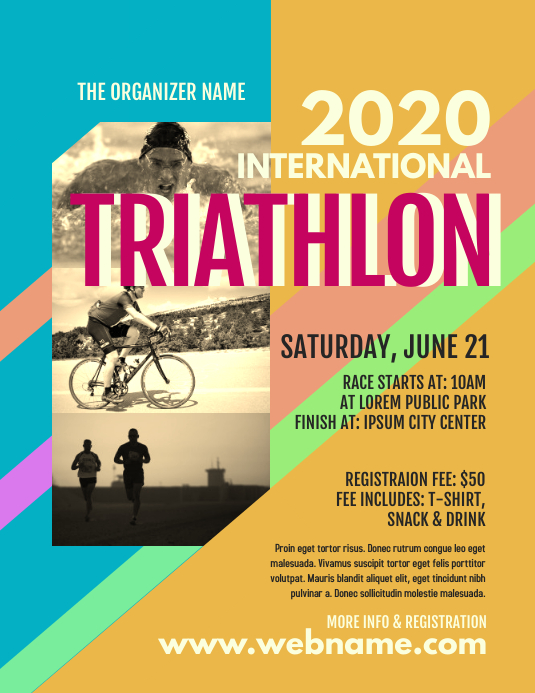Triathlon Event Flyer