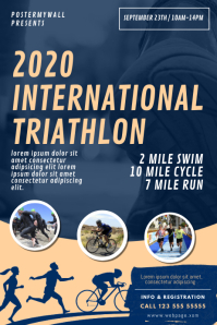 Triathlon Flyer Design Template