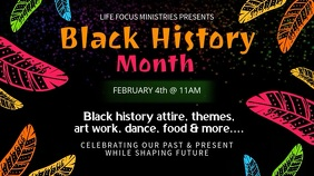 Tribal Black History Month Video Template Digitalt display (16:9)
