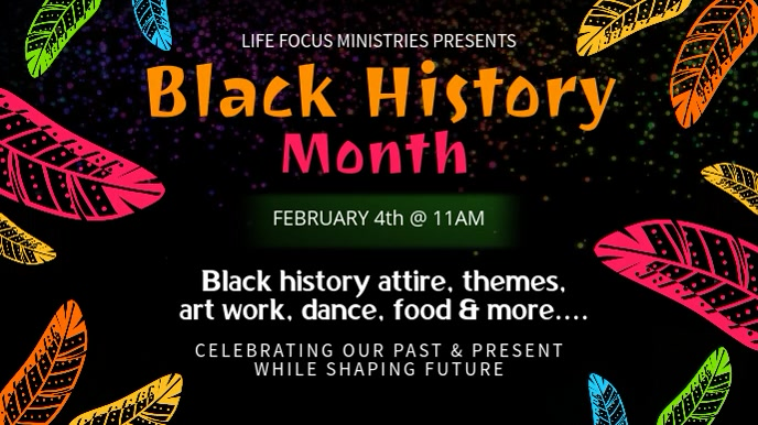 Tribal Black History Month Video Template