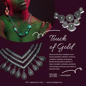 Tribal Jewelry Instagram Post Ad template