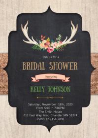 Tribal powwow bridal shower invitation