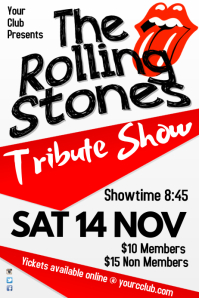 Tribute show poster