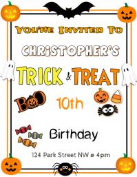 Trick & Treat Halloween Birthday