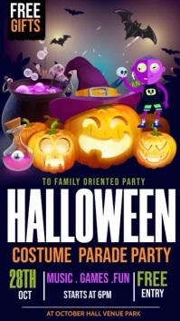 trick or treat, Halloween Instagram Story template