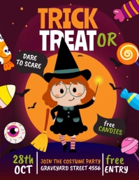 trick or treat, Halloween Flyer (US Letter) template
