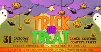 trick or treat Facebook-advertentie template