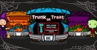 Trick or Treat ปกอีเวนต์ Facebook template