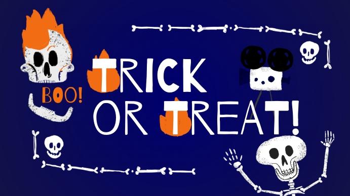 trick or treat Foto de Portada de Canal de YouTube template