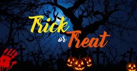 trick or treat facebook cover even template Okładka wydarzenia na Facebooku