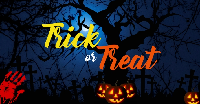 trick or treat facebook cover even template