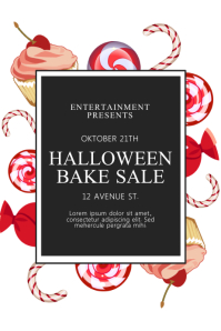 Trick or treat Flyer Template Poster