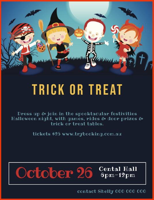 Trick or treat Halloween Fundraiser