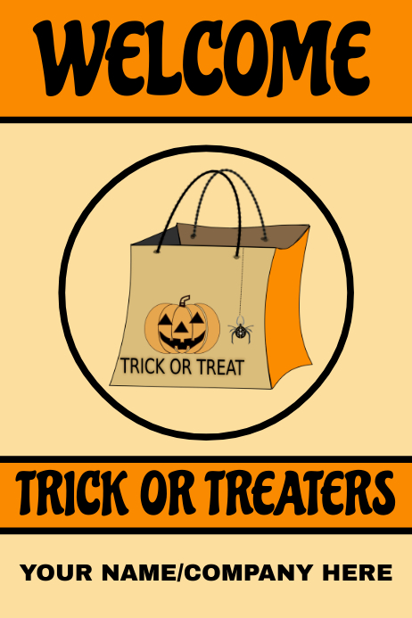 Trick Or Treat Template Postermywall