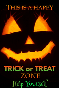 Trick or Treat Zone Poster template