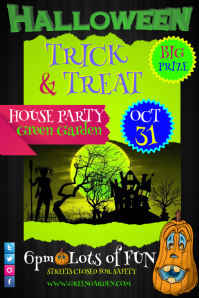 Customizable design templates for house party postermywall electro house flyer template tricktreat party flyer saigontimesfo