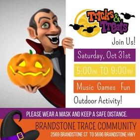 Tricks & Treats Halloween 2020 Square (1:1) template