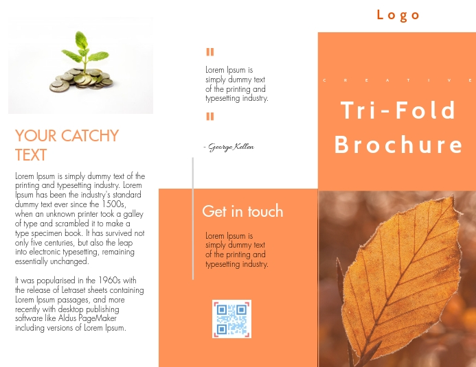 Trifold brochure Flyer (US Letter) template