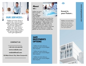 trifold brochure design template corporate pr Flyer (US Letter)