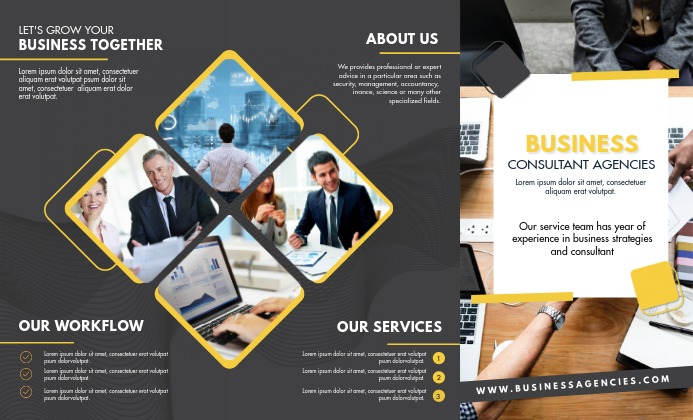 Trifold Business Corporation Brochure Templat Legal AS template