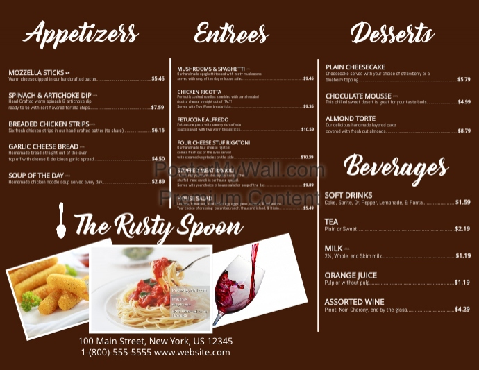 trifold menu template postermywall