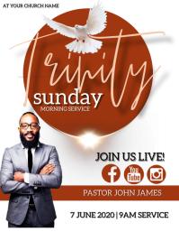 TRINITY Sunday Church Event Flyer Template