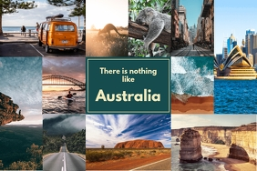 Trip to Australia Family Photo Collage