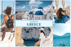 Trip to Greece Photo Collage