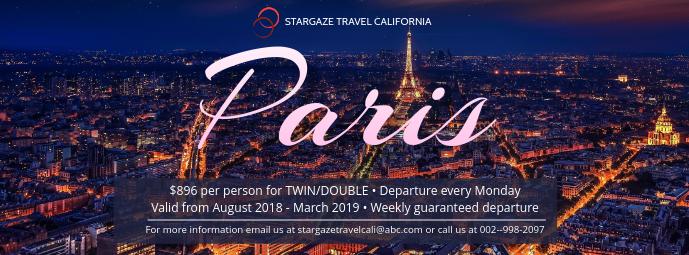 Trip To Paris Facebook Cover Template