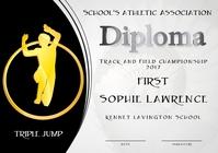 triple jump diploma first