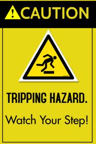 tripping hazard Plakat template