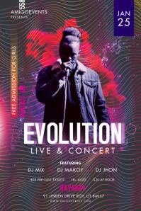 Trippy Modern Creative Rock Concert Poster template