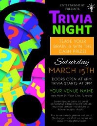 Trivia Flyer (US Letter) template