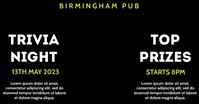Trivia Night Bar Pub Event Video Ad Facebook Shared Image template