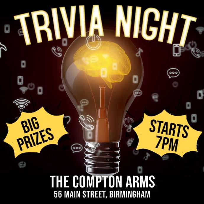 Trivia Night Digital Template Kvadrat (1:1)