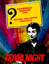 Trivia Night Event Flyer