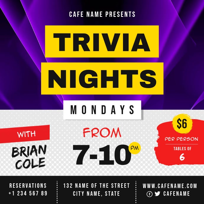 Trivia Night Event Instagram Video