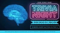 Trivia Night Facebook Video Event Cover Facebook-omslagvideo (16:9) template