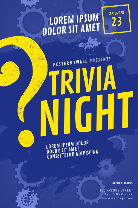 Trivia Night Flyer Template Iphosta